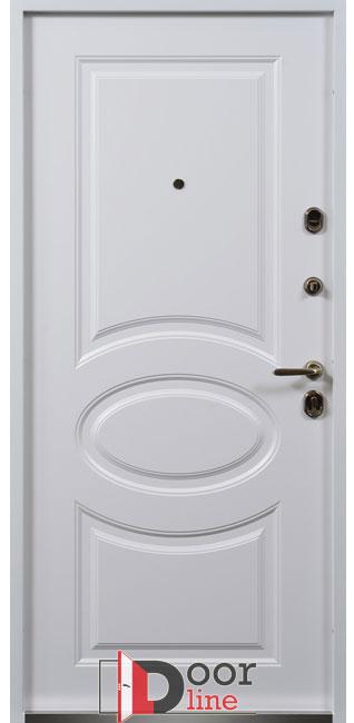 Белоснежные металлические двери Дублин