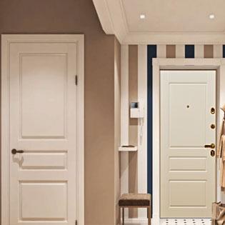 Входные и межкомнатные двери в одном стиле