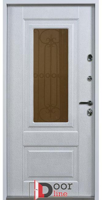 Оксфорд с окном и ковкой дверь