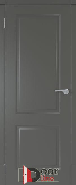 финская дверь эмаль чёрная ПГ