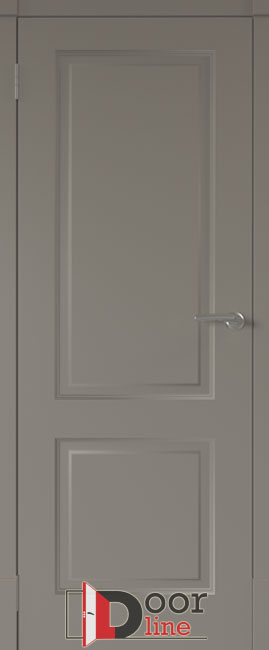 финская дверь эмаль серая ПГ